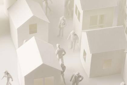 ペーパークラフトと人物模型