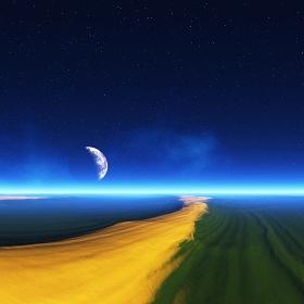 宇宙砂漠と惑星