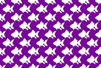 金魚のシルエットの紫色の背景イラスト