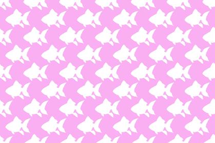 金魚のシルエットのピンクの背景イラスト