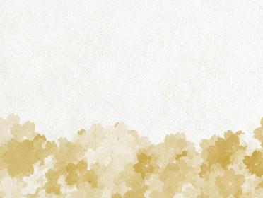 白い和紙に金色の桜柄の背景画像