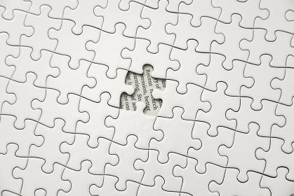 真っ白なジグソーパズル