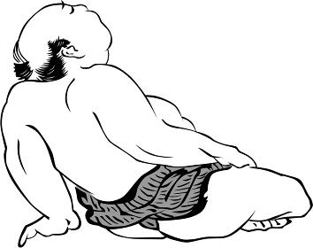 浮世絵 相撲取り その18