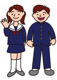 学生服の生徒