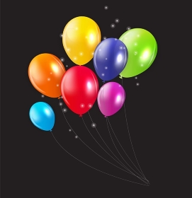 Set of Colored Balloons, Vector Illustration. EPS 10. Set of Colored Balloons, Vector Illustration.