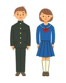 学生服 詰襟とセーラー服