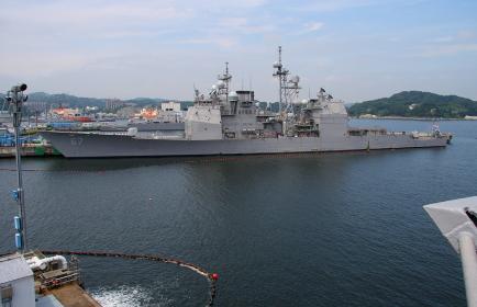 アメリカ海軍のタイコンデロガ級イージス艦 GG-67「シャイロー」