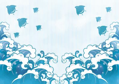 海の和風背景