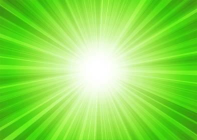 【背景画像素材】放射線状の光の背景 緑 横位置【集中線・スピード感】