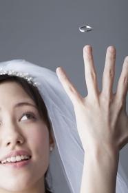 結婚指輪と花嫁