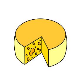 大きいチーズ アウトライン有
