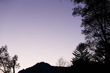日本の百名山、10月・夜明けの八ヶ岳・山梨