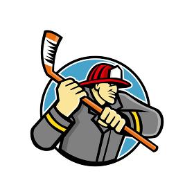 Fireman Ice Hockey Mascot