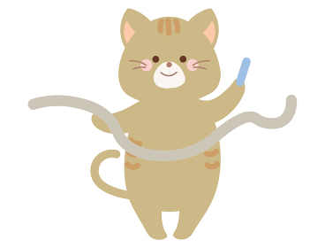 運動会のネコのイラスト