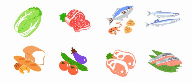 食材 肉魚野菜パン