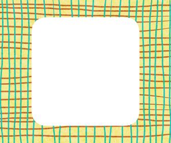 黄色と緑の手描きチェック背景
