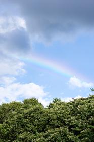 山と雲と虹