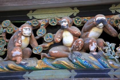 日光 東照宮 神厩舎 三猿
