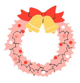 ピンクのクリスマスリース