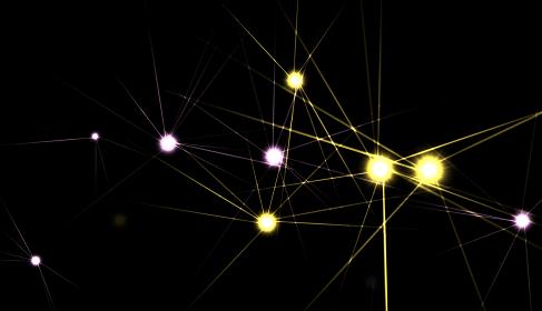 鋭い光を放つ光球のグラフィック