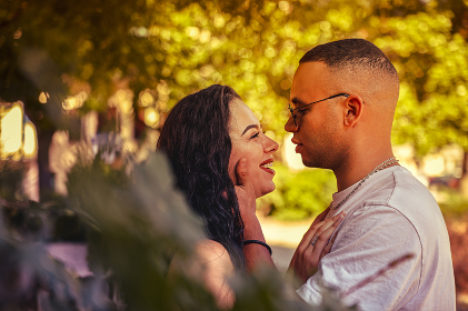 Love couple in Nature close up 2