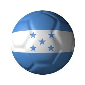 ホンジュラスのサッカーボール型国旗