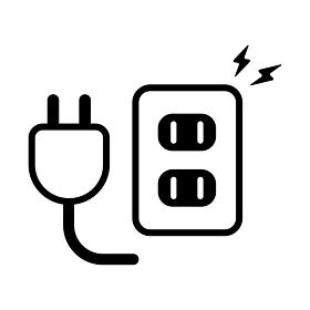 コンセント・タップ・電気・電源 アイコン