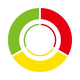 インフォグラフィックス|3分割の円グラフチャート図PDCAビジネスプロセス経営イラスト