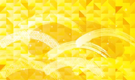 金箔の和柄の背景素材