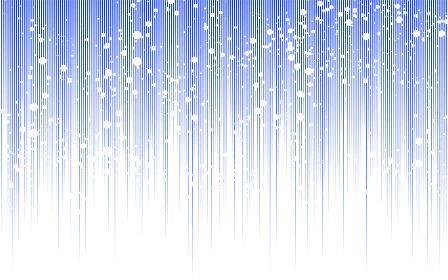 白いしぶきの飛び散った青い上から下に流れる効果線