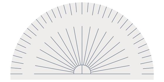 分度器のイラスト素材 定規 算数 数学 製図 授業 ベクター