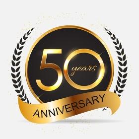 Template 50 Years Anniversary Vector Illustration EPS10. Template 50 Years Anniversary Vector Illustration