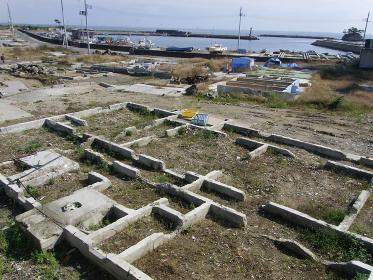 2011年10月、震災後の宮城県七ヶ浜