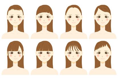 前髪ヘアスタイル 女性