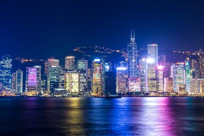 Victoria harbor, Hong Kong 2 December 2013:- Hong Kong urban city