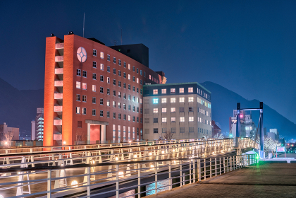 ライトアップ門司港レトロ(福岡県北九州市)