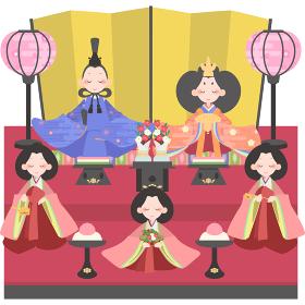 雛人形(5人飾り)