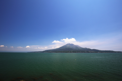 晴れた日の桜島