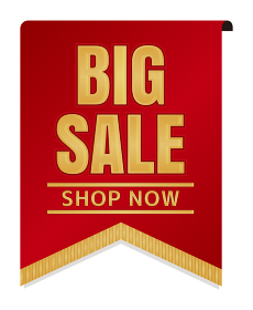 販促・ECサイト向け / 割引アイコン (Big Sale) | フラッグバナータイプ