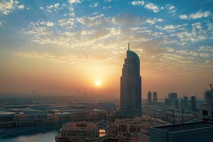 アラブ首長国連邦・ドバイ ドバイの夜明け