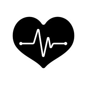 心電図・心臓の鼓動 アイコン