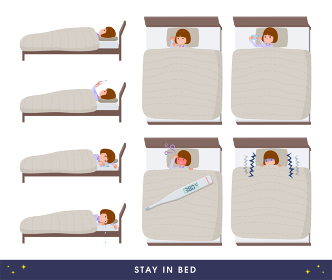 flat type Straight bangs women_stay-in-bed