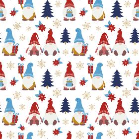 かわいいクリスマスの小人のシームレスパターン