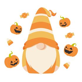 ハロウィン用の仮装をした北欧の小人のキャラクター