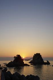 豊後二見ヶ浦からの夜明け