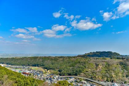 祐徳稲荷神社と上宮からの眺め
