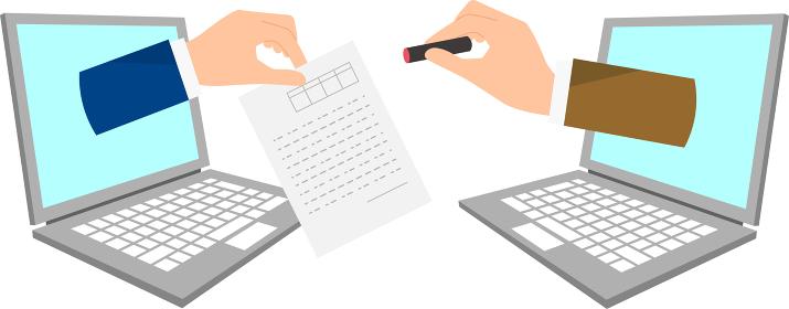 DX、はんこから電子署名へのイラストイメージ