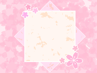 四月の花 和風な桜のフレーム