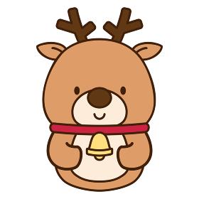 かわいいトナカイのクリスマス向けキャラクター