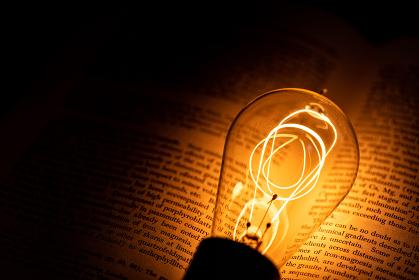 本とエジソン電球